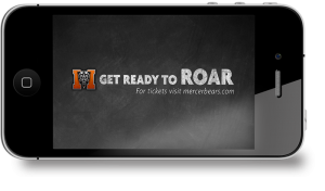 This sports marketing campaign for Mercer Athletics was used to promote their basketball teams.