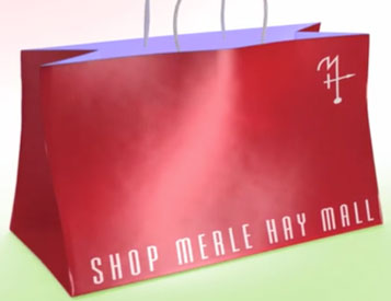 This shopping bag icon was used in Merle Hay Mall advertising